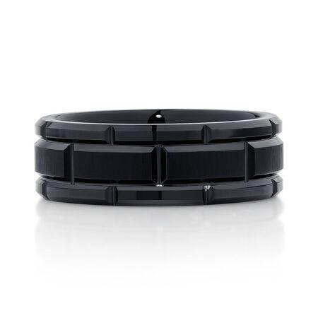 Men's Ring in Black Tungsten