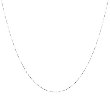 """60cm (24"""") Hollow Rolo Chain in 10kt White Gold"""