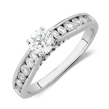 Online Exclusive - Engagement Ring with 1.11 Carat TW of Diamonds in 14kt White Gold