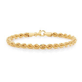 "19cm (7.5"") Rope Bracelet in 10kt Yellow Gold"