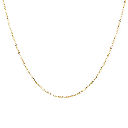 "40cm (16"") Cable Chain in 10kt Yellow Gold"