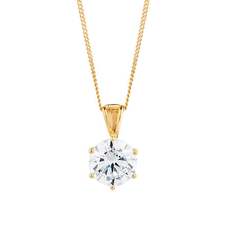 Pendant with Cubic Zirconia in 10kt Yellow Gold