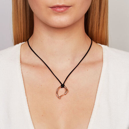Small Spirits Bay Hollow Pendant in 10kt Rose Gold