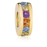 Multicolor & 10kt Yelllow Gold Charm