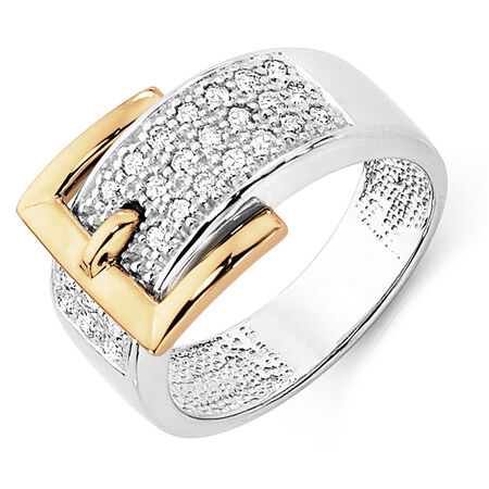 Ring with 1/3 Carat TW of Diamonds in 10kt Yellow & White Gold