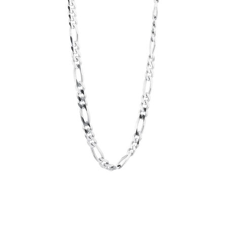 """Online Exclusive - 50cm (20"""") Figaro Chain In Sterling Silver"""