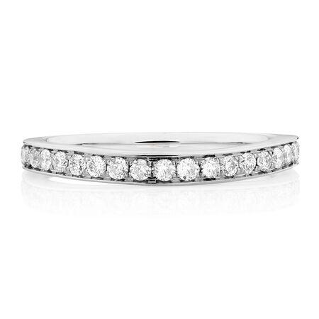 Sir Michael Hill Designer GrandAmoroso Wedding Band with 1/2 Carat TW of Diamonds in 14kt White Gold