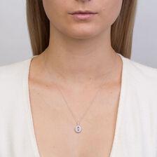Michael Hill Designer Fashion Pendant with Tanzanite & 1/5 Carat TW of Diamonds in 10kt White Gold