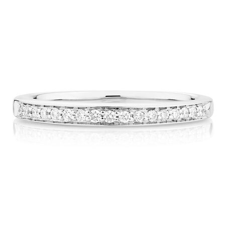 Wedding Band with 1/6 Carat TW of Diamonds in 18kt White Gold
