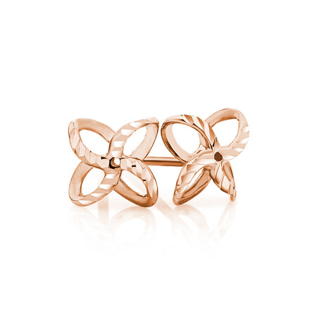 Petal Stud Earrings in 10kt Rose Gold