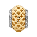 Diamond Set, 10kt Yellow Gold Charm