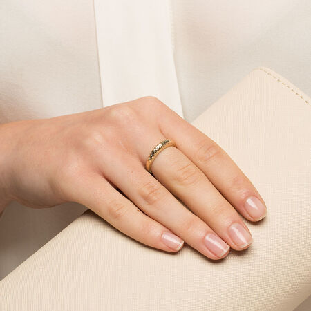 Dome Stacker Ring in 10kt Yellow Gold