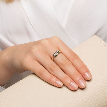 Bypass Ring with 1/4 Carat TW of Diamonds in 10kt Yellow Gold