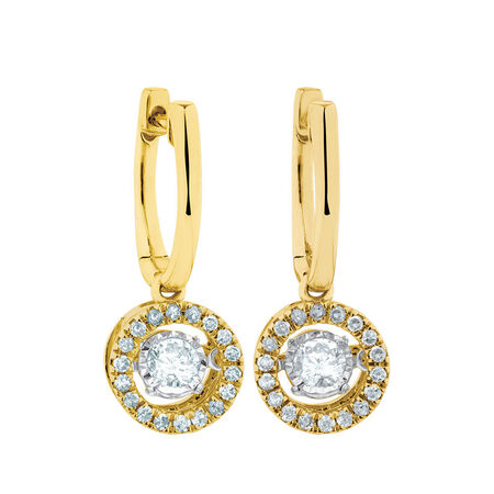 Everlight Earrings with 1/2 Carat TW of Diamonds in 10kt Yellow Gold