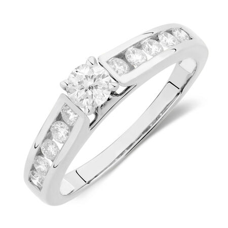 Online Exclusive - Engagement Ring with 5/8 Carat TW of Diamonds in 14kt White Gold