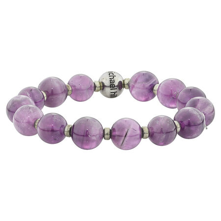 Online Exclusive - Bracelet with Amethyst In Sterling Silver