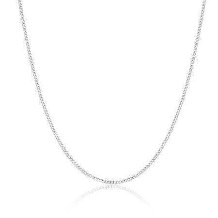 """55cm (22"""") Curb Chain in Sen Silver"""