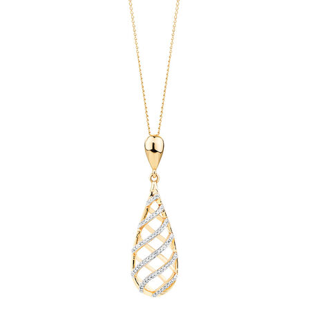 Pendant with 1/6 Carat TW of Diamonds in 10kt Yellow Gold