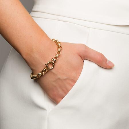 """19cm (7.5"""") Rolo Bracelet in 10kt Yellow Gold"""