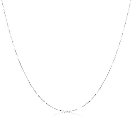 "60cm (24"") Hollow Rolo Chain in 10kt White Gold"