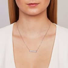 Glitter Bar Necklace in Sterling Silver