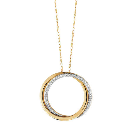 Pendant with 1/8 Carat TW of Diamonds in 10kt Yellow Gold