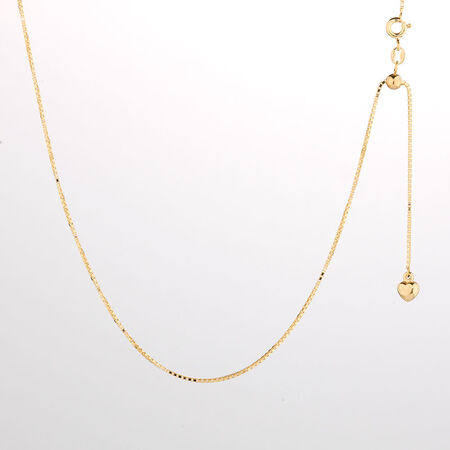 "Online Exclusive - 50cm (20"") Box Chain in 10kt Yellow Gold"