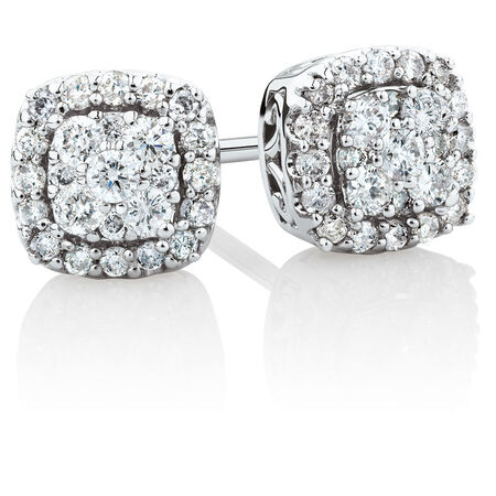 Stud Earrings with 1/3 Carat TW of Diamonds in 10kt White Gold