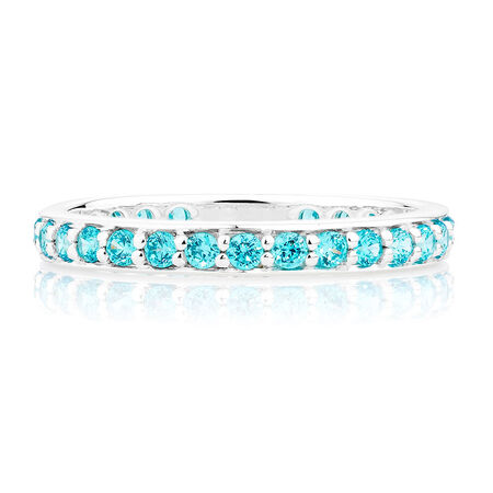 Aqua Cubic Zirconia Stack Ring