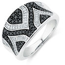 Online Exclusive - City Lights Ring with 5/8 Carat TW of White &  Enhanced Black Diamonds in Sterling Silver