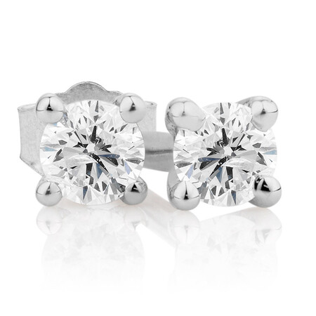 Stud Earrings with 1/10 Carat TW of Diamonds in 10kt White Gold