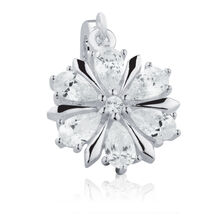 Snowflake Dangle Charm with Cubic Zirconia in Sterling Silver