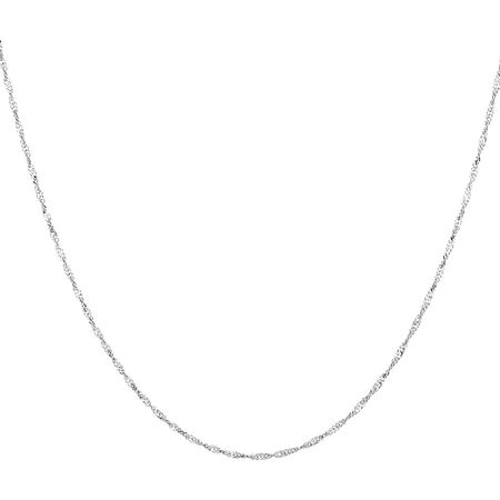 "45cm (18"") Singapore Chain in 14kt White Gold"