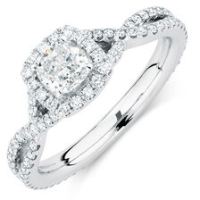 Sir Michael Hill Designer GrandAdagio Engagement Ring with 1 1/5 Carat TW of Diamonds in 14kt White Gold
