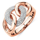 Link Ring with 1/4 Carat TW of Diamonds in 10kt Rose Gold