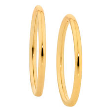 12mm Sleeper Earrings in 10kt Yellow Gold