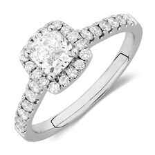 Engagement Ring with 1 1/5 Carat TW of Diamonds in 14kt White Gold