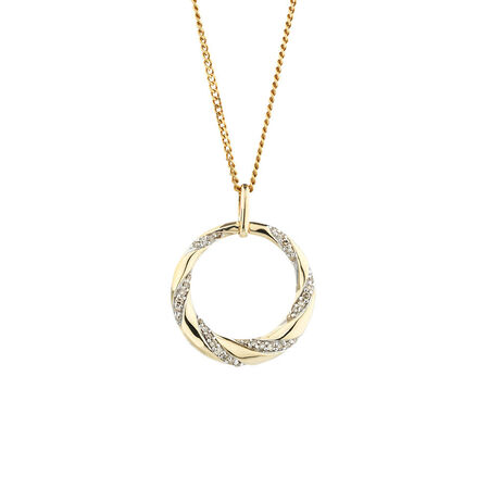 Online Exclusive - Circle Pendant with 0.15 Carat TW of Diamonds in 10kt Yellow Gold