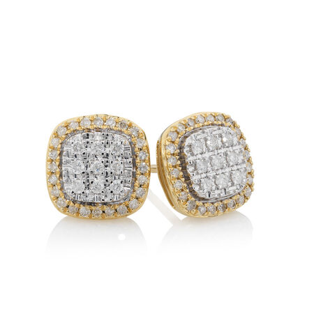 Earrings with 1/3 Carat TW of Diamonds in 10kt Yellow Gold