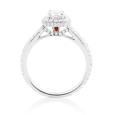 Sir Michael Hill Designer GrandAllegro Engagement Ring with 1 1/8 Carat TW of Diamonds in 14kt White Gold