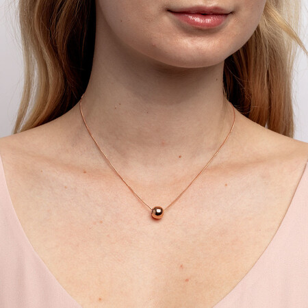 Round Charm in 10kt Rose Gold
