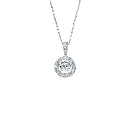 Everlight Pendant with 1/5 Carat TW of Diamonds in Sterling Silver