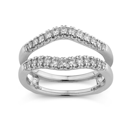 Evermore Ring Enhancer with 0.50 Karat TW of Diamonds in 14kt White Gold