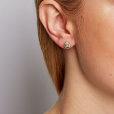 Stud Earrings with 1/3 Carat TW of Diamonds in 10kt Yellow & White Gold