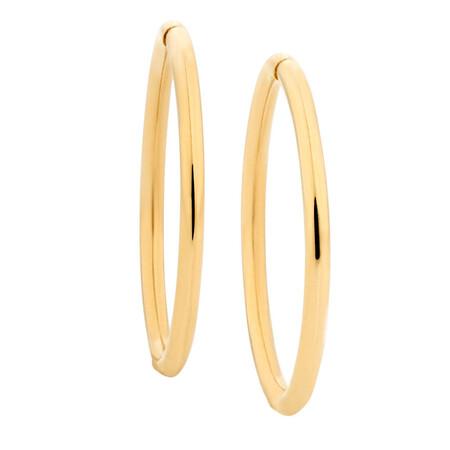 14mm Sleeper Earrings in 10kt Yellow Gold