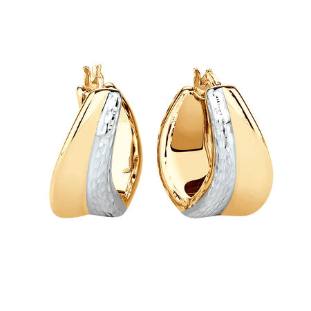 Electroforming Earring in 14kt Yellow & White Gold