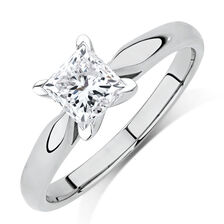 Evermore Solitaire Engagement Ring with a 1 Carat Diamond in 14kt White Gold