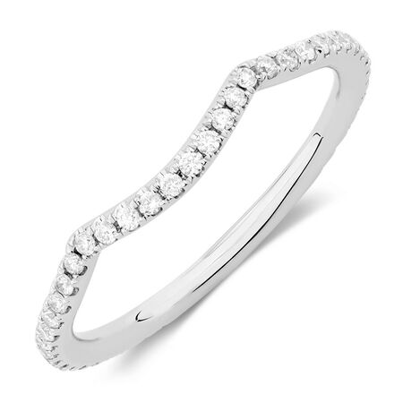 Sir Michael Hill Designer GrandAdagio Wedding Band with 1/5 Carat TW of Diamonds in 14kt White Gold