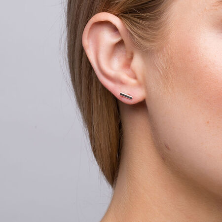 Geometric Stud Earrings in Sterling Silver