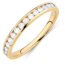Wedding Band with 1/3 Carat TW of Diamonds in 14kt Yellow Gold